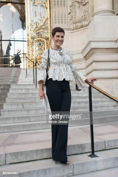 Brazilian Tv Presenter Cristina Cordula day 2 of Paris Haute Couture Fashion Week Autumn/Winter 2017 on July 3 2017 in Paris France