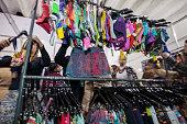 Brazilian women buy fitness clothing on sale 2016 FEVEST Festival in Nova Friburgo Rio de Janeiro State Brazil Fevest is the most important Brazilian...