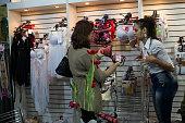 Brazilian women buy underwear on sale bra 2016 FEVEST Festival in Nova Friburgo Rio de Janeiro State Brazil Fevest is the most important Brazilian...