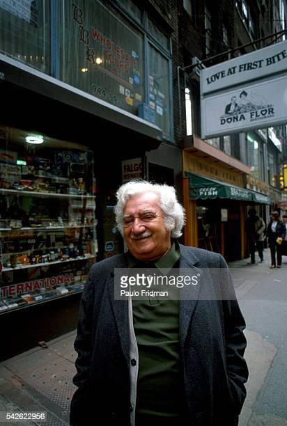 Brazilian writer Jorge Amado in New York City