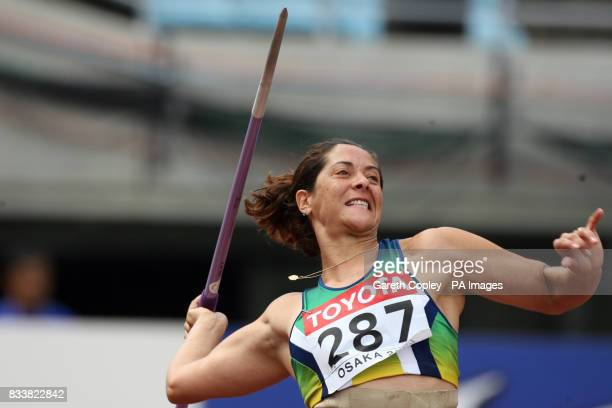 Brazil's Alessandra Resende competes in the Javelin