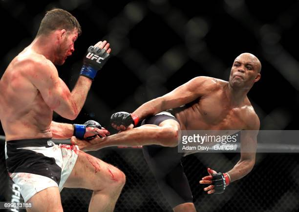 Brazil's Anderson Silva in action against Great Britain's Michael Bisping during the UFC Fight Night
