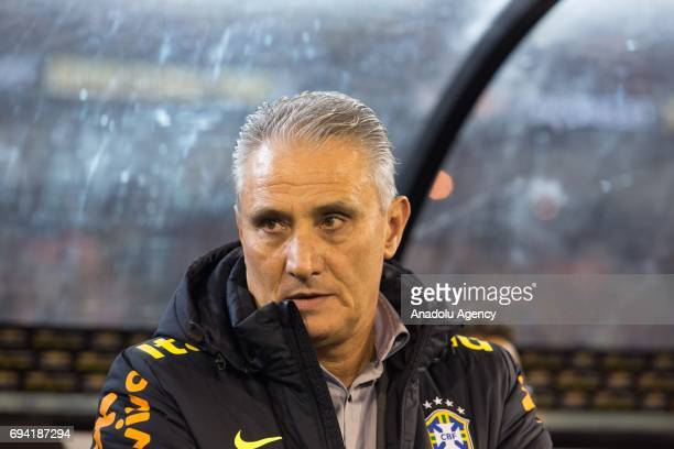 Brazil's Coach Tite is seen before a friendly football international between Argentina and Brazil at the Melbourne Cricket Ground in Melbourne...
