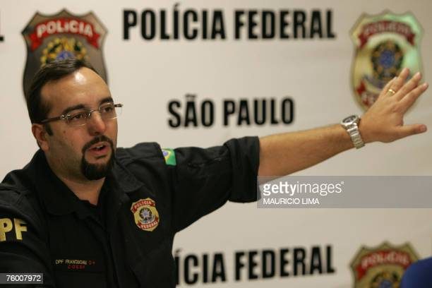 Brazil's federal police agent Fernando Francischini commander of the operation to arrest Colombian native Juan Carlos Ramirez Abadia one of the most...