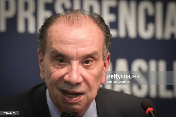 Brazil's Foreign Minister Aloysio Nunes speaks during a meeting on South American trade bloc Mercosur to suspend Venezuela for failing to follow...