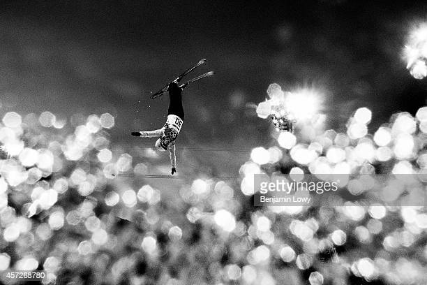 Brazil's Joselane Santos competes in the Women's Freestyle Skiing Aerials Qualifications at the Rosa Khutor Extreme Park during the Sochi Winter...