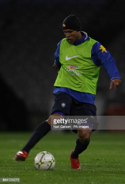 Brazil's Luis Fabiano during a training session at Croke Park Dublin