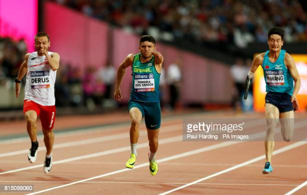 Brazil's Petrucio Ferreira dos Santos in action in the Men's 100m T47 Final during day two of the 2017 World Para Athletics Championships at London...