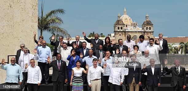 Brazil's President Dilma Rousseff Belize's Deputy Prime Minister Gaspar Vega Bahamas' Deputy Prime Minister Theodore Symonette Antigua and Barbuda's...