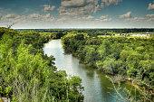 The Brazos River as seen from Cameron Park, Waco Texas
