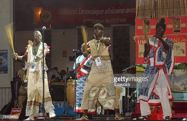 The group Universal Sanza performs 12 July 2007 during the 6th Fespam music festival the Panafrican music festival in Brazzaville AFP PHOTO / GUY...