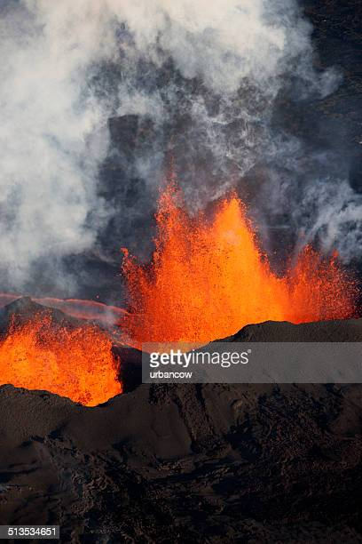 Bárdarbunga éruption volcanique, Islande.
