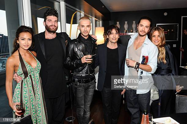 Brea Alex Claster Bill Kaulitz Shiro Gutzie Tom Kaulitz and Shay Todd attend SHAY TODD 2014 Swimwear And Resortwear Collection Preview at The...