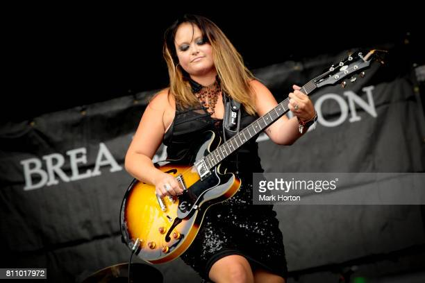 Brea Lawrenson performs on Day 3 of the RBC Bluesfest on July 8 2017 in Ottawa Canada