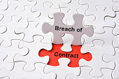 Breach of Contract concept on missing puzzle