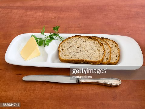 Bread and butter : Stock Photo