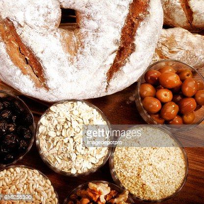 bread and ingredients : Stock Photo