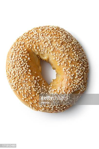Bread: Bagel Isolated on White Background