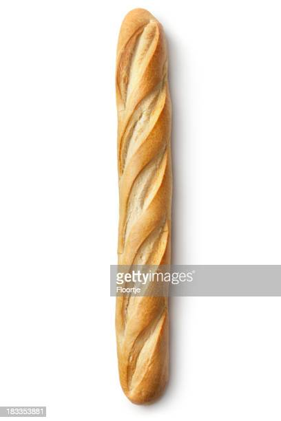 Bread: Baguette Isolated on White Background