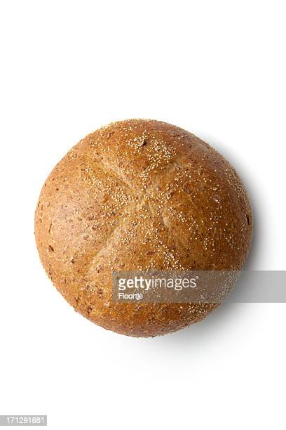 Bread: Bun Isolated on White Background