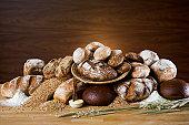 Bread grain wheat oats flour and butter Sweden.