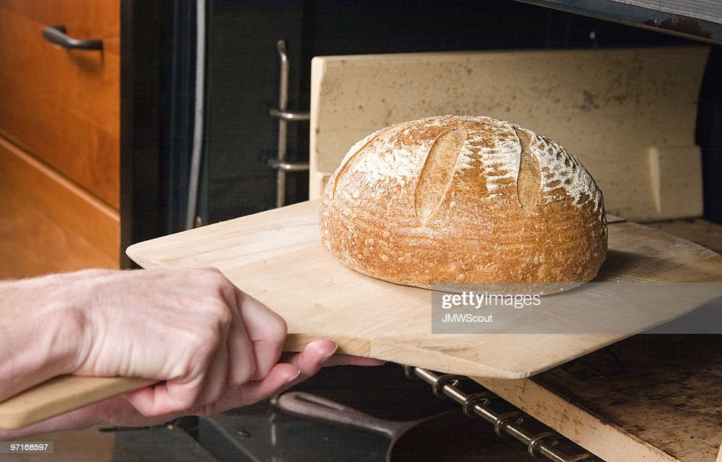 Bread hot out of the oven