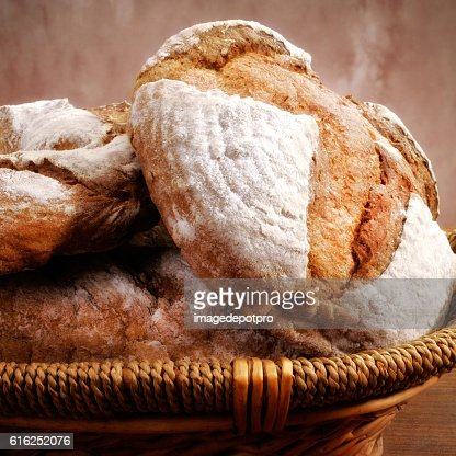 bread in basket : Stock Photo