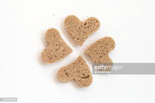 Bread in shape of heart