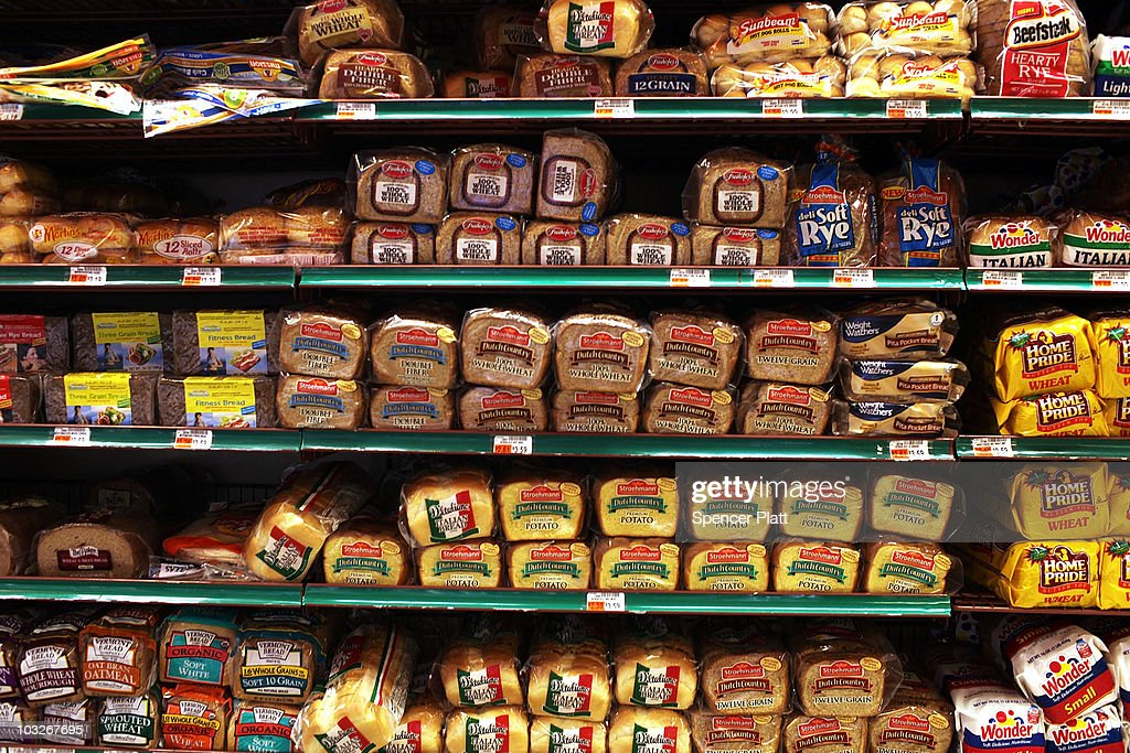 Bread is displayed for sale at a Manhattan grocery store on August 6, 2010 in New York City. As a result of drought and an outbreak of wildfires that have decimated Russia's wheat crop, U.S. wheat prices have been steadily rising, igniting fears of a global rise of food prices. Russia announced a ban on grain and flour exports yesterday, which will take effect from August 15 to the end of the year. While prices fell slightly in trading today, U.S. wheat futures on the Chicago Board of Trade rose over 20 percent earlier in the week, having nearly doubled since early July to $8.41 a bushel.