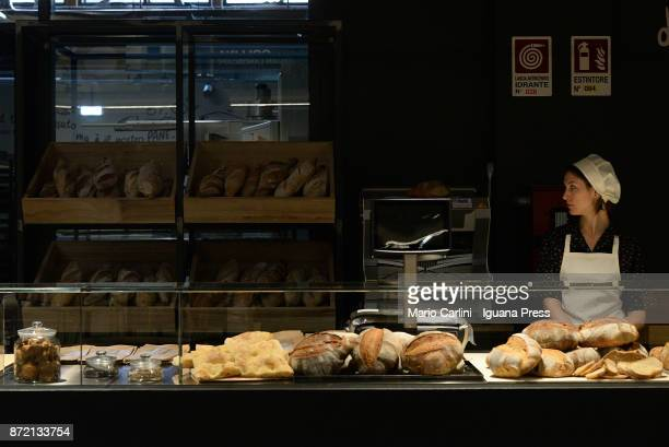 bread makers at work during the press preview at CAAB FICO Agro Food Center on November 9 2017 in Bologna Italy Fico it's the world's largest...