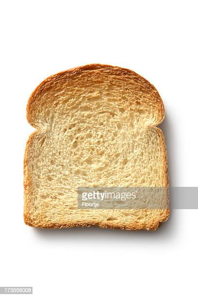 Bread: Toast Isolated on White Background