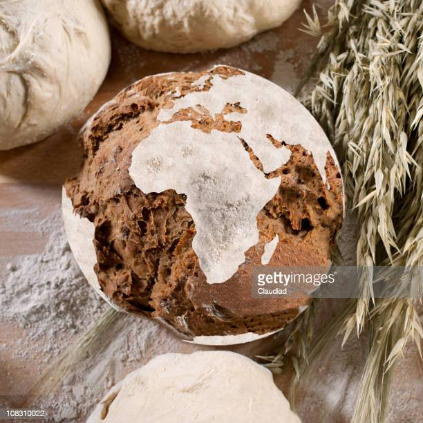 Bread with african map