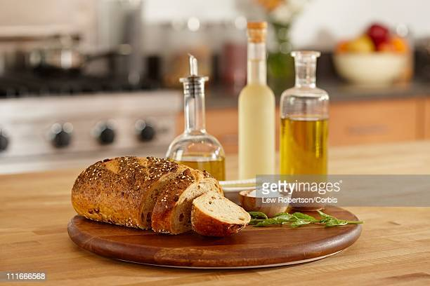 Bread with olive oil and seasonings