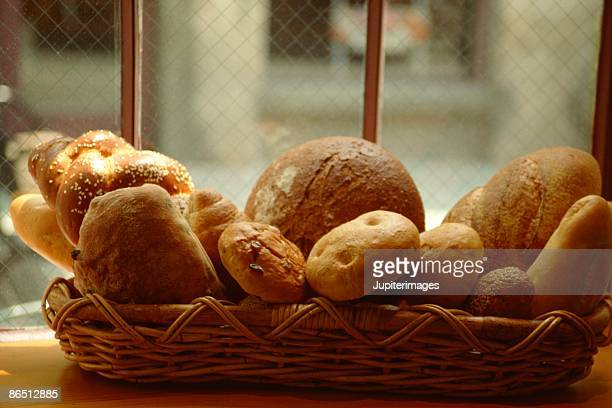 Breadbasket in window