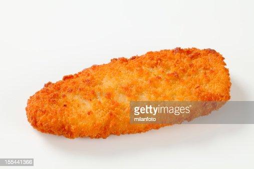揚げ魚の切り身や鶏肉白で分離