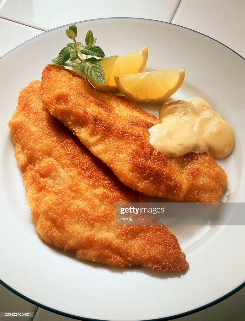Breaded Fish Fillets : Stock Photo