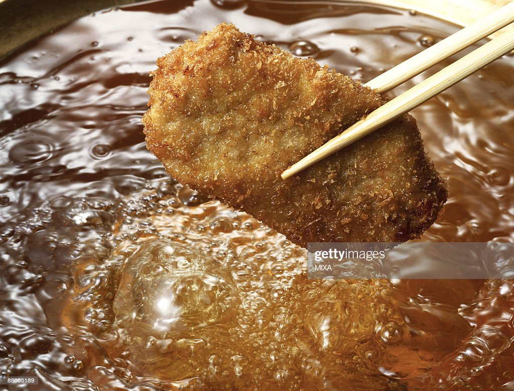 Breaded pork cutlet : Stock Photo