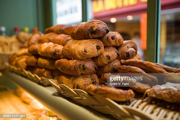 Breads in bakery, close-up