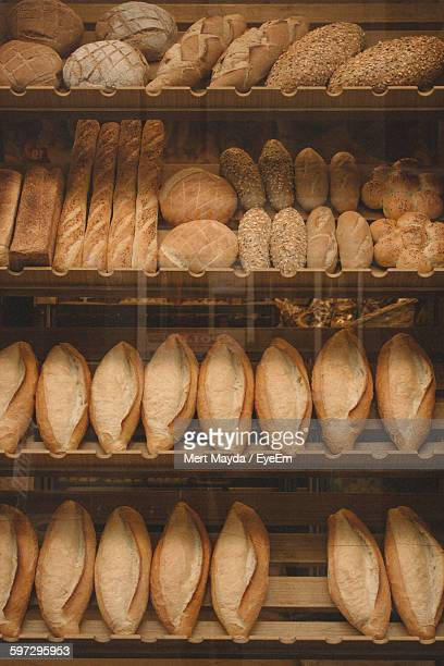 Breads On Retail Display At Bakery