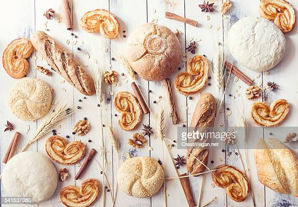 Breads, palmiers, spices and cereals