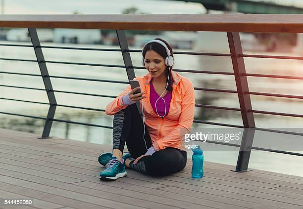 Pausa dopo il jogging.