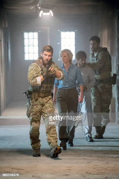THE BRAVE 'Break Out' Episode 104 Pictured Mike Vogel as Captain Adam Dalton Anne Heche as Patricia Campbell Connor Paolo as Nate Noah Mills as...