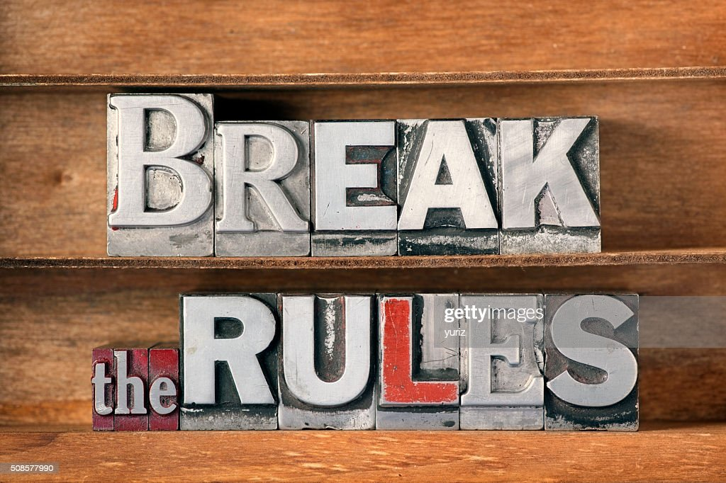 break the rules tray : Bildbanksbilder
