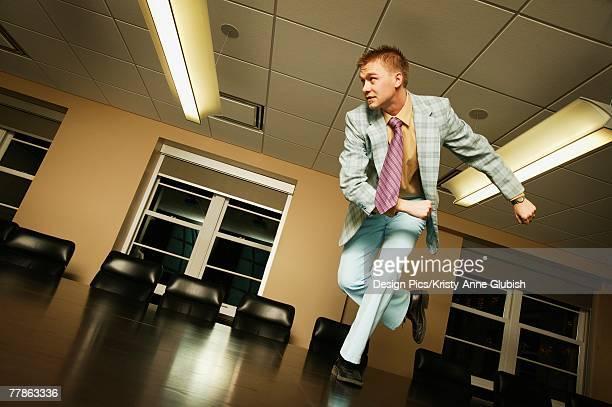 Break Time - dancing on boardroom table