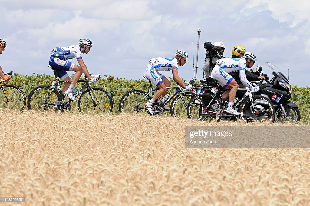 Breakaway during Stage 7 of the Tour de France on July 8, 2011, Le Mans to Chateauroux, France.