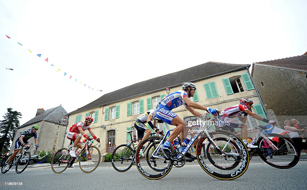 Breakaway during Stage 8 of the Tour de France on July 9, 2011 Aigurande to Super-Besse Sancy, France.