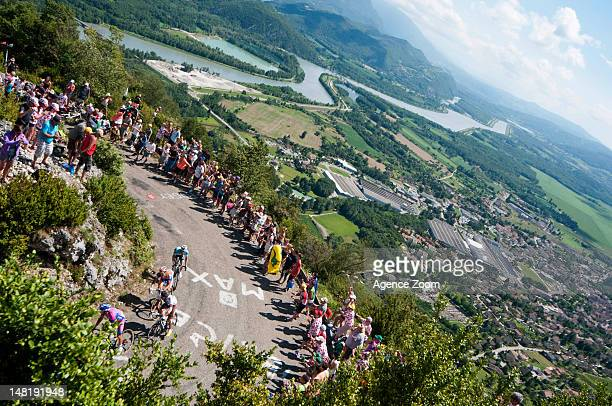 A breakaway group during Stage 10 of the Tour de France on July 11 2012 from Macon to BellegardesurValserine France