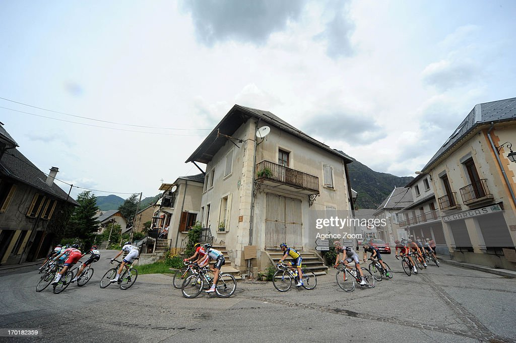 Breakaway in Chantelouve during Stage Seven of the Criterium du Dauphine, Le Pont-de-Claix to Superdevoluy, on June 8, 2013 in Superdevoluy, France.