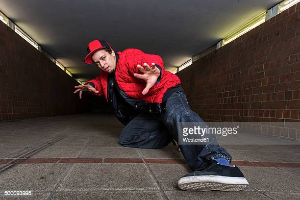 Breakdancer in underpass
