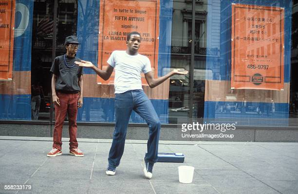 Breakdancers BBoys on the street 5th Avenue New York USA 1981